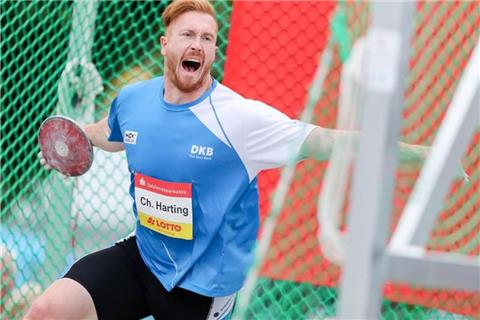 Diskuswurf-Olympiasieger Christoph Harting Fünfter in Halle