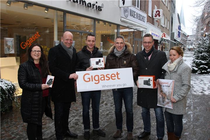Gigaset eröffnet Pop-up-Store in Bocholt