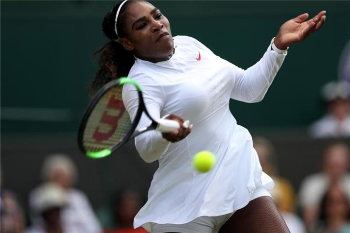 Serena Williams im Tennis-Viertelfinale von Wimbledon